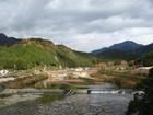 紅葉も終わり・・・板取川と通元寺向橋